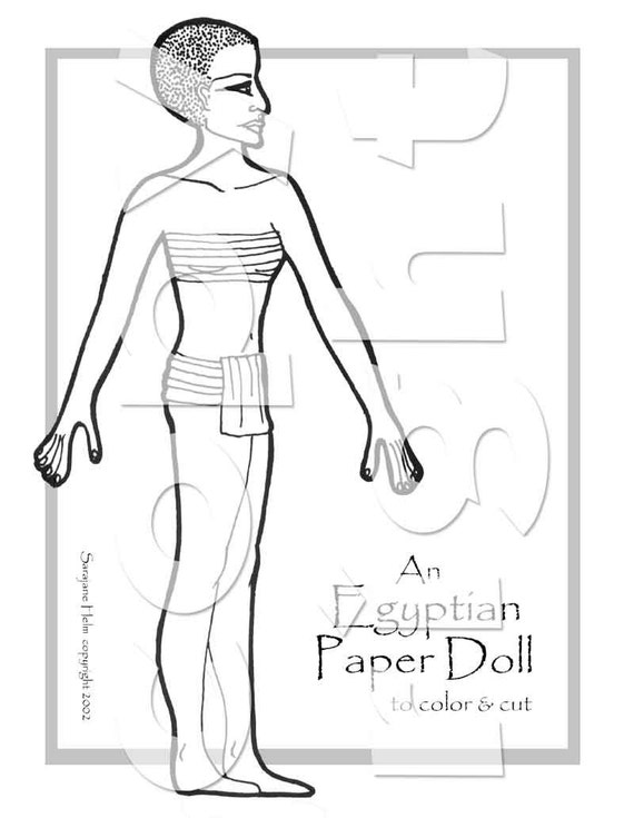 Egyptian Princess Paper Doll to
