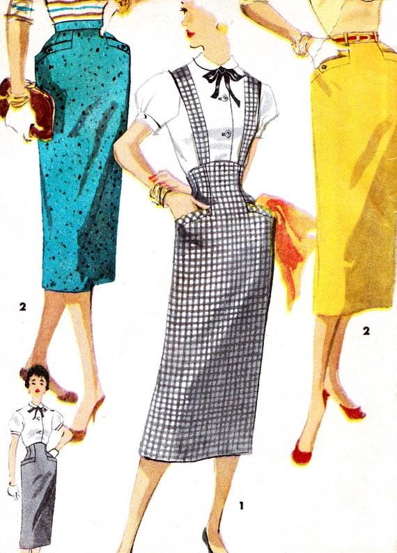 1950s skirt pattern simplicity 1423 high waist by paneenjerez