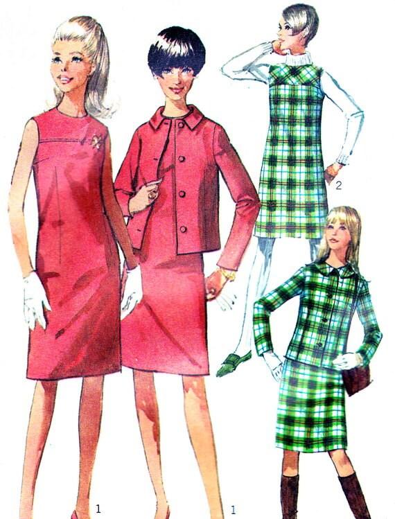 1960s Dress Pattern Simplicity 7236 Mod Sleeveless Shift Dress - photo#29