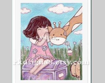 Nursery decor, baby girl nursery art, baby girl nursery decor, safari nursery, nursery wall art, brown, Please Keep My Secret