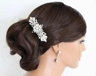 Art Deco Hair Accessory Bridal Hair Comb Crystal Wedding Hair Comb 20s Head Piece Veil Comb Wedding Hair Accessories Decorative Hair Comb
