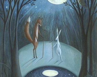 Moonrakers. Archival quality Art Print.