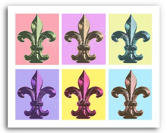 "Fleur de Lis Art ""Pastel Fleurs"" Prints Signed and Numbered"