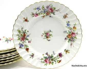 Set of English Fine China, Minton Plate Set, Country Living Style, Modern Farmhouse Decor