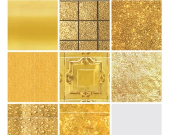 Digital Texture Pack - Gold Metallic Sampler 1 (Illustrator CS5/5.5+ & Photoshop)