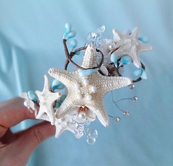 Seashell Wedding Headband Starfish Headpiece Bridal