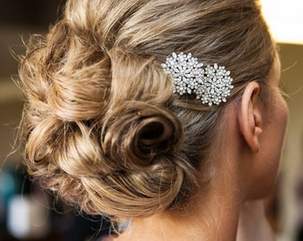 Crystal Bridal Hair Accessories Two Mum Bridal Hair Pins  As Seen on Style Me Pretty