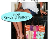 XL Tote Purse Pattern, Tennis Bag Pattern, Diaper Bag Pattern PDF Sewing Pattern Ebook Sewing Tutorial, DIGITAL Delivery