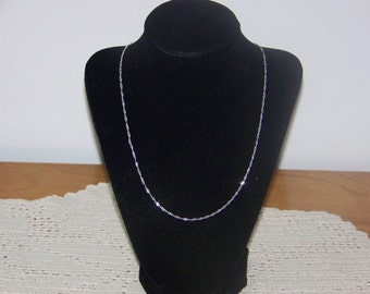 """925 Silver 1.4mm 24"""" Wave Link Chain"""