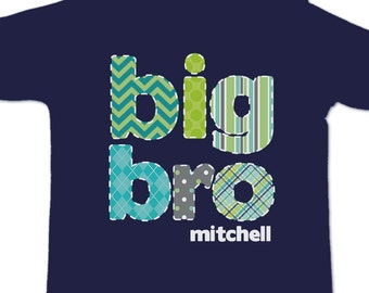 Big brother colorful stitched look pattern big bro DARK Tshirt