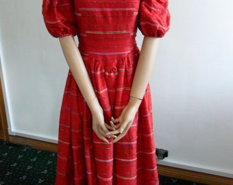 1980s Raw Silk Party Dress REDUCED PRICE