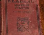 Vintage 1916 Studies In Reading Fifth Grade by Searson and Martin Cloth Covered Hard Back Reader