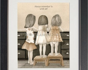 Wash Up - archival watercolor print by Tracy Lizotte