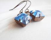 Vintage Jewel Earrings - Periwinkle