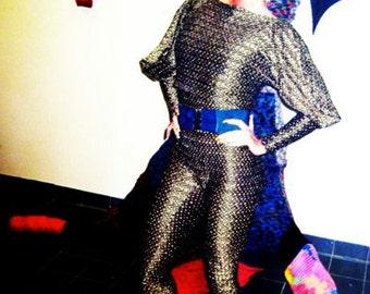 Black/Gold Herringbone Jumpsuit  S,M,L