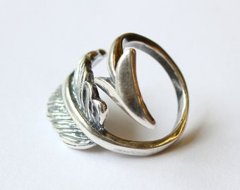 Robin Hood Arrow Ring - Silver Arrow Ring In Solid White bronze with Sterling Overlay 287