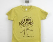 Tshirt toddler organic tree hugger printed dijon yellow 2T 4T 6T