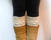 Grace Cable Boot Cuffs Knitting Pattern / Digital PDF Knitting Pattern