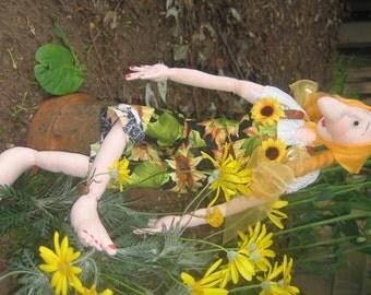 Cloth Doll e-Pattern - Ingeborg - A Garden Circle Lady