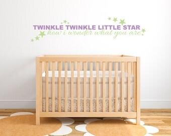 Wall Decal Twinkle Star Nursery Rhyme  DB223