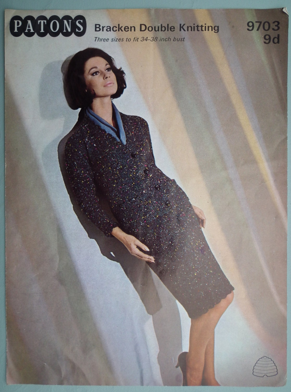 109c828a58b4 Vintage Knitting Pattern 1960s Women s Suit Two-Piece Straight Skirt ...