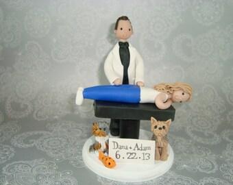 Cake Topper Custom Handmade Chiropractor Wedding