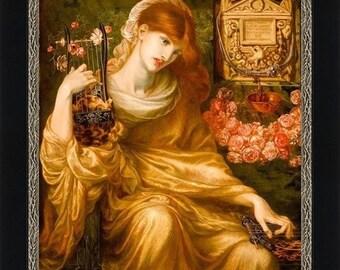 "Dante Gabriel Rossetti Print:  ""Roman Window"" 1874 Giclee Artist's Print"