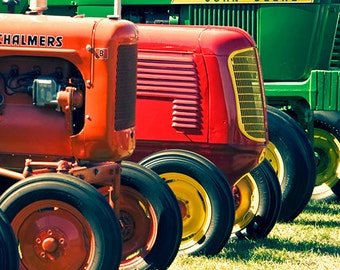 Wall art for him tractor photograph - Antique Tractors 8x8 fine art image - manly farm photography home decor boy's nursery art