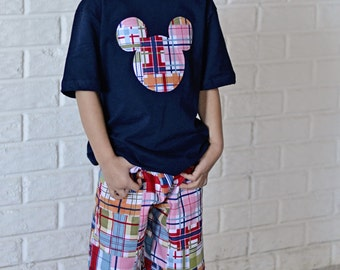 Madras Mouse inspired outfit sizes 4 - 8