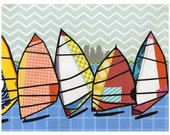 Lake Calhoun Windsurfers - Minneapolis print