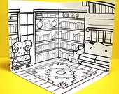 Colorin Bookstore: Mobile Mini Coloring Dollhouse