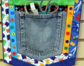 Repurpose, Recycle, Re-USE Pockets from JEANS, Denim, Shirt Pockets - PDF Craft Pattern