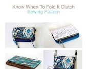 PDF Sewing Pattern - Know When To Fold It Clutch.  Digital Sewing Pattern.