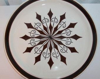 Brown Mid Century Serving Plate or Platter (Code y)