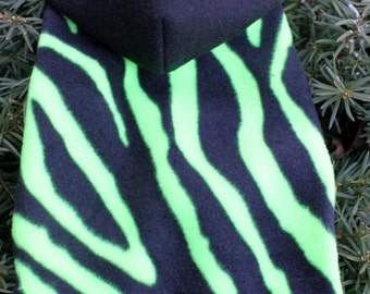 Neon Green Zebra Snuggly - Dog or Cat - 4 Sizes Available