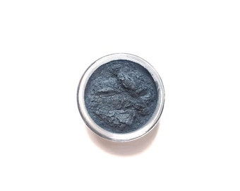 Vegan Mineral Eyeshadow  // Sea // - Silver Grey Blue Mineral Eye Shadow