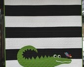 A is for Alligator Quilt Kit with Backing Fabric