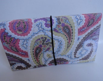 Coupon Holder Organizer| Coupon Storage File|Coupon Organizer  Accordion Pocket Book Pastel Paisley