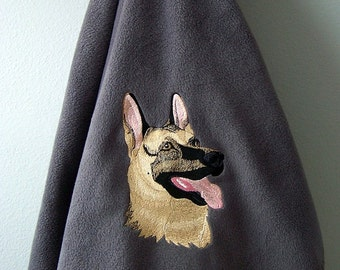German Shepherd Fleece Blanket - Ready to Ship