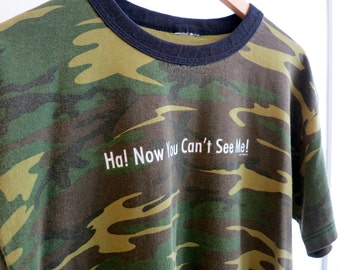 The Vintage Now You Can't See Me Camo TShirt