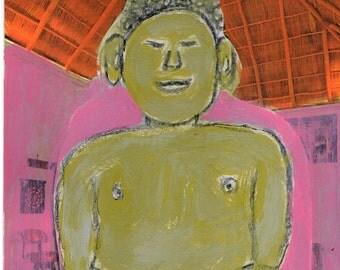 Mixed Media Buddha Collage