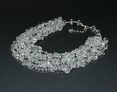 Crystal Necklace, Crystal Bridal Necklace, Crystal Wedding Necklace, Sparkly Bridal Necklace, Multistrand Necklace, Wedding, Statement