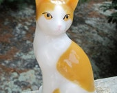 Carmel the White and Orange Cat Candle - 100% CHARITABLE DONATION