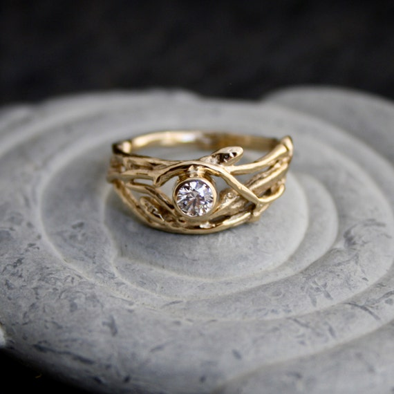 ethical canadian 14kt yellow gold engagement branch