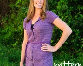 make your own Sarabeth Cardigan (DIGITAL KNITTING PATTERN) adult to plus