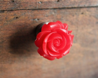 Petite Rose Drawer knobs in Red MORE COLORS Available (RFK07)