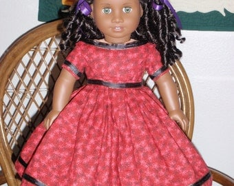 Mid 1800s Civil War Era Party Dress for American Girl Cecile Marie Grace 18 inch dolls