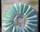 Lovely New Bravissimo Rosette Embellishment - Blue Satin Ribbon- from Making Memories - FREE SHIPPING