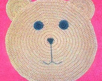 Teddy Bear Rug   PDF Crochet Pattern   Instant Download