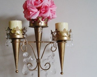 Camelot Elegance Golden Candle Chandelier Candelabra MADE TO ORDER
